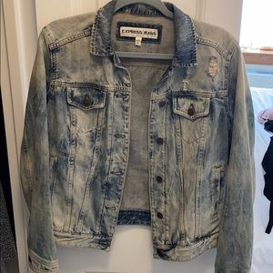 Express Distressed Jean Jacket